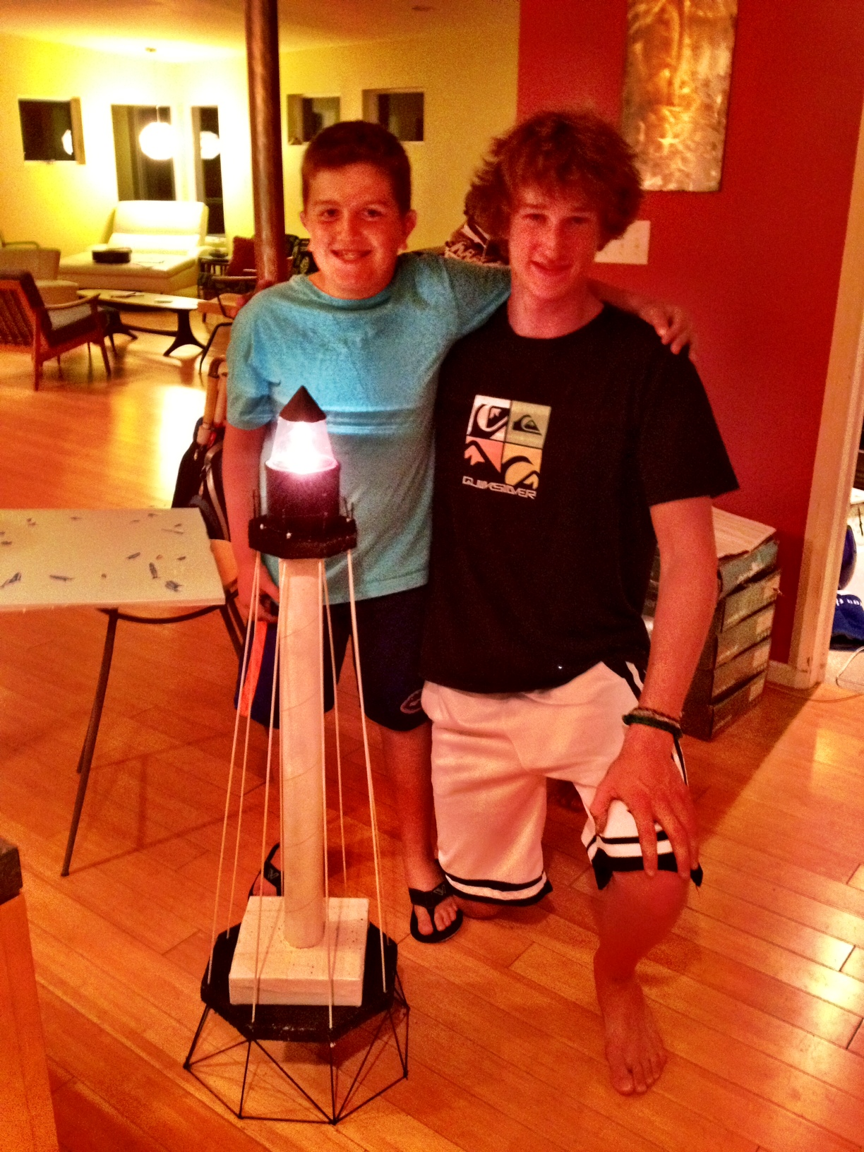 Alex the Engineer helps Brooks construct his lighthouse JUST IN TIME!  We love our neighbors!